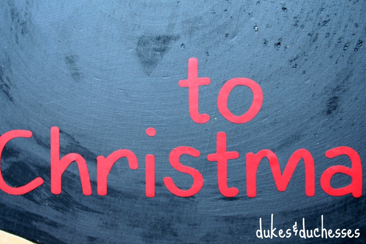 vinyl letters on christmas countdown