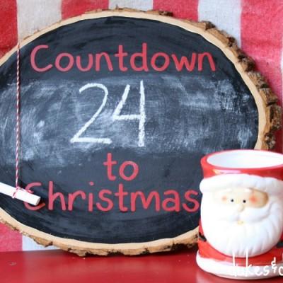 Rustic Chalkboard Christmas Countdown