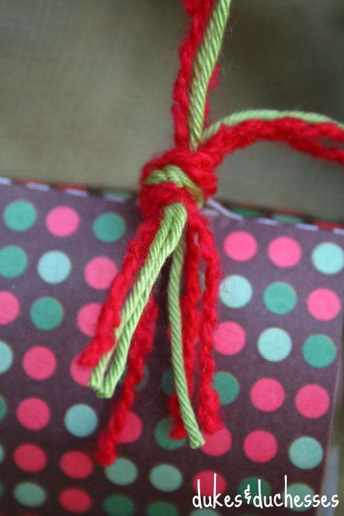 yarn on ornament