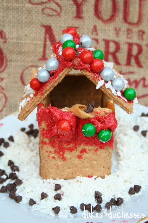 decorated holiday house