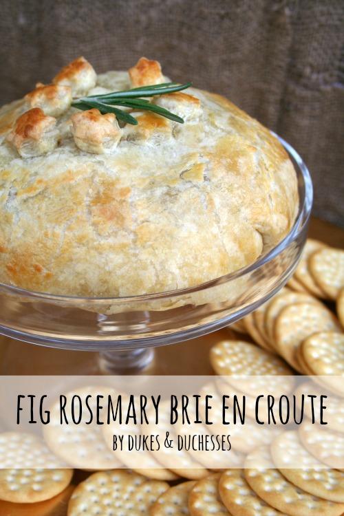 fig rosemary brie en croute