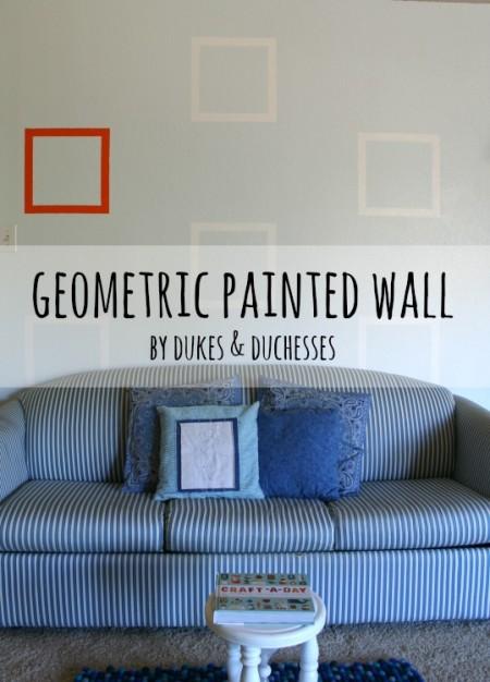 geometric painted wall