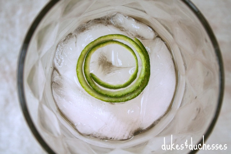 lime garnish on drink