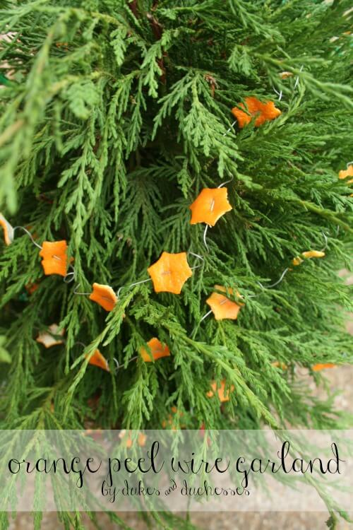 orange peel wire garland