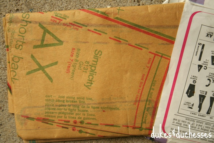 red and green vintage sewing pattern