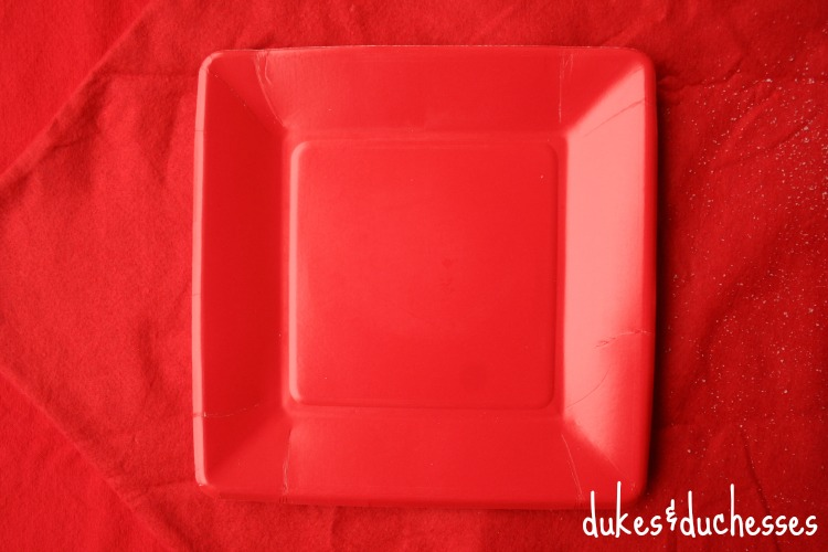 red plates for santa claus plates