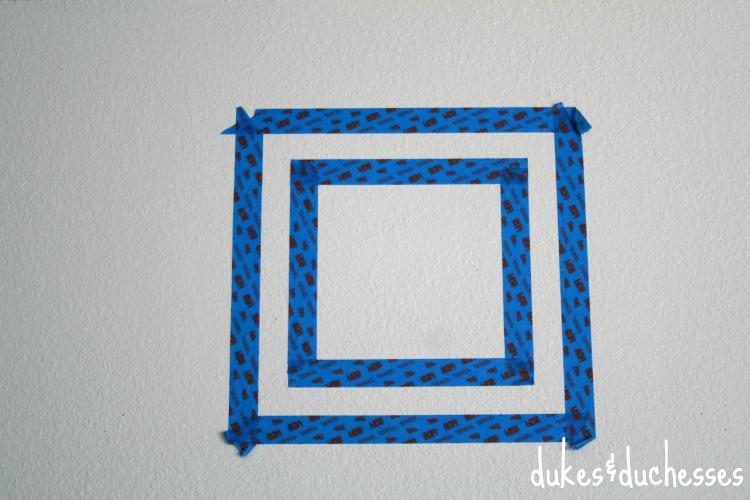 scotch blue taped pattern