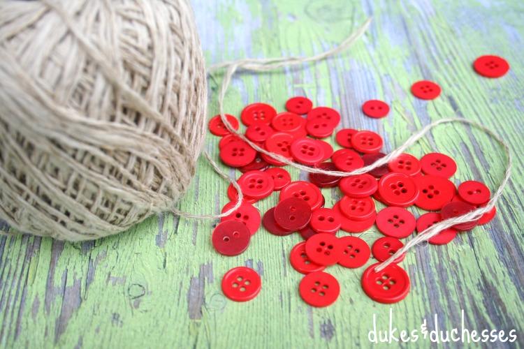 supplies for button garland
