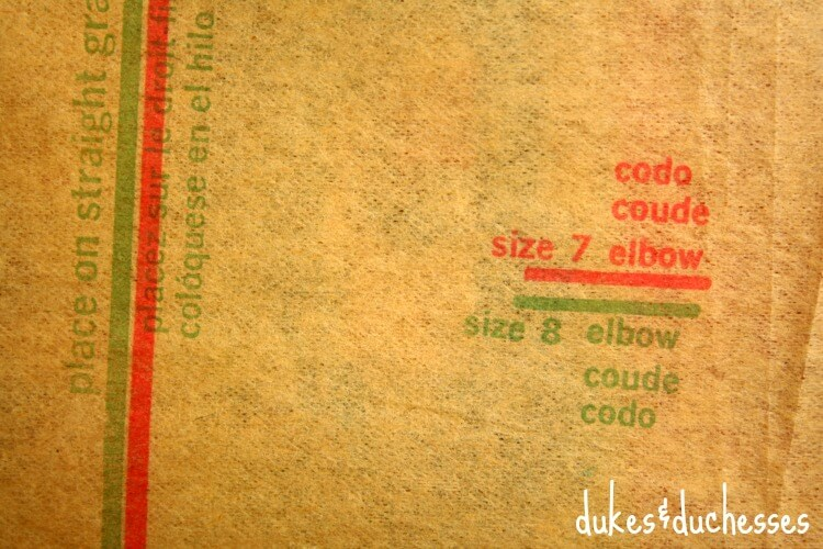 text on vintage sewing pattern