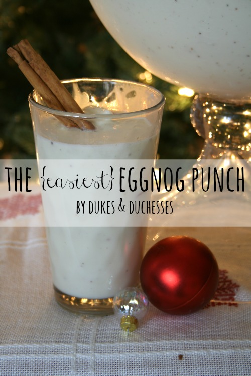 easy eggnog punch recipe