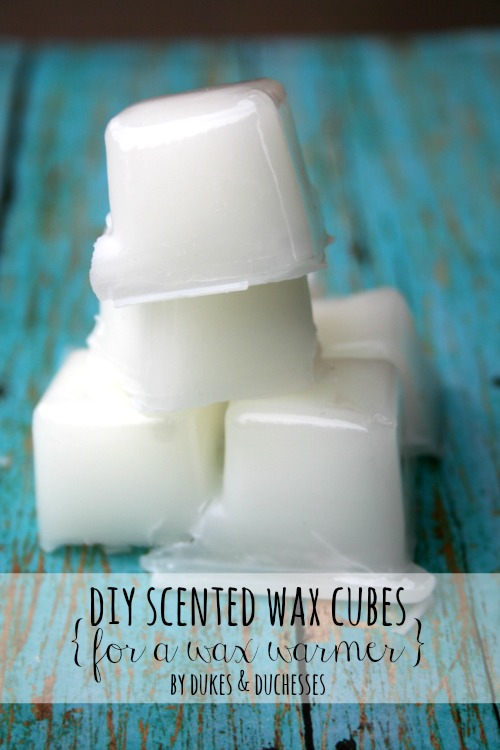 DIY scented wax cubes for a wax warmer
