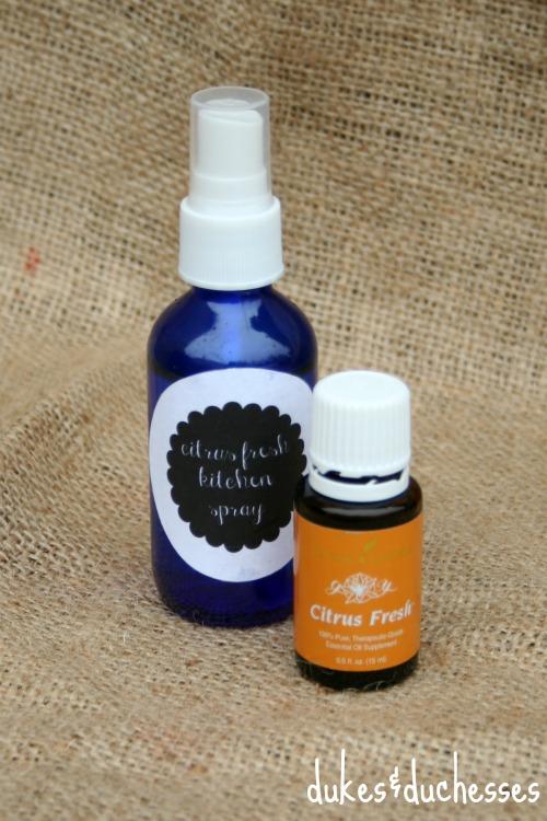 citrus kitchen spray with essential oils