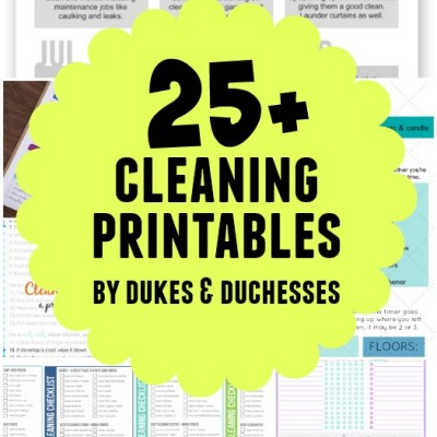 25+ Cleaning Printables