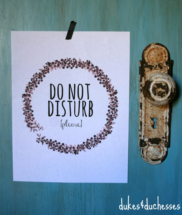 do not disturb printable sign  #DISCOVERBROOKSIDE