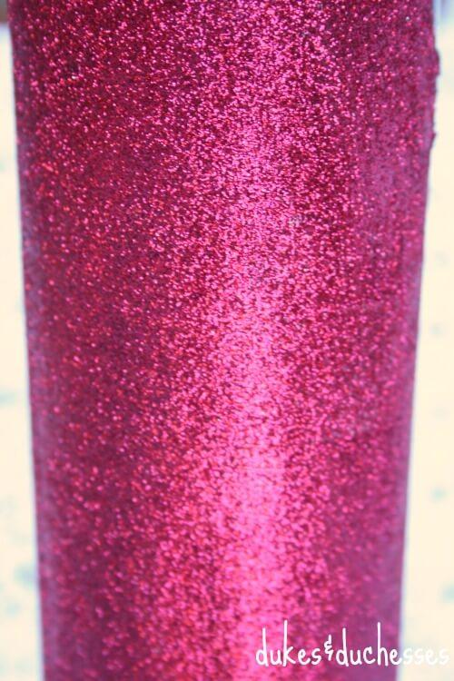 glitter on wine bottle