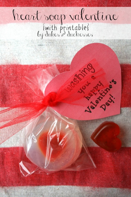 heart soap valentine with printable