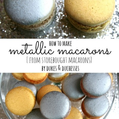 How to Make Metallic Macarons