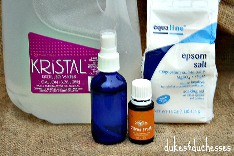 ingredients for citrus fresh kitchen spray