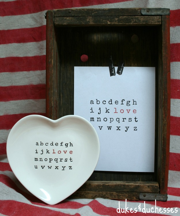 love printable for valentine's day