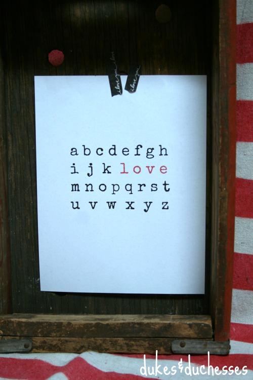 love printable typograpy