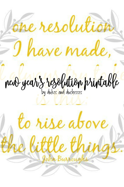 new year's resolution printable