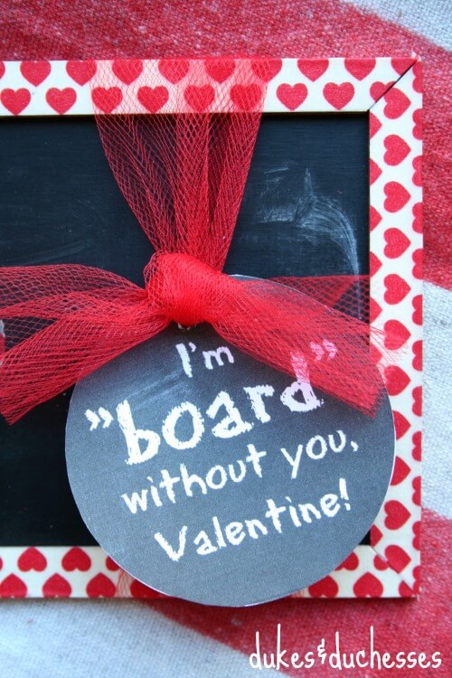 printable tag for chalkboard valentine