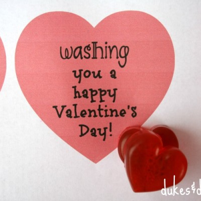 Heart Soap Valentine {with a Printable}