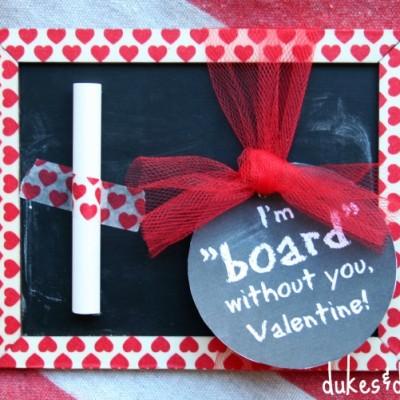 Handmade Chalkboard Valentine