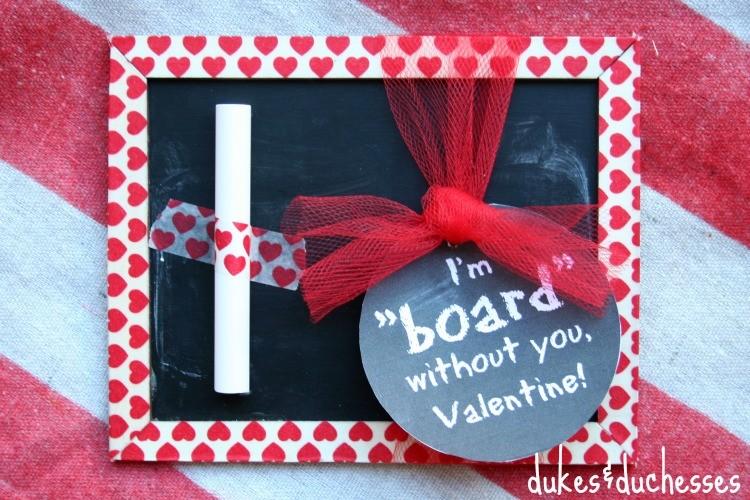 Handmade Chalkboard Valentine and Printable