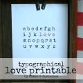 typographical love printable
