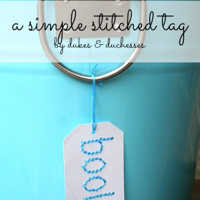 A Simple Stitched Tag