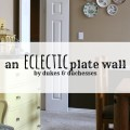 an eclectic plate wall
