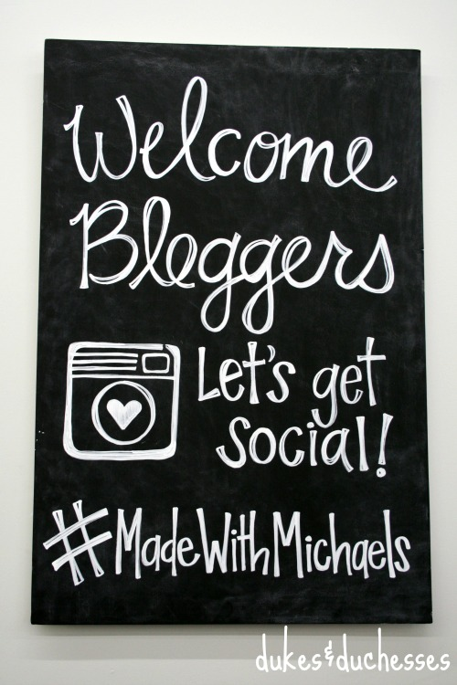 blogger event at michaels stores