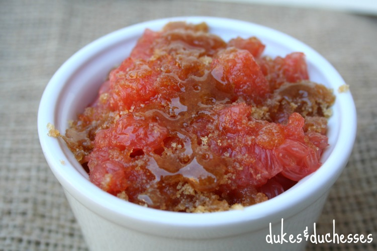 broiled brown sugar on Dole grapefruit