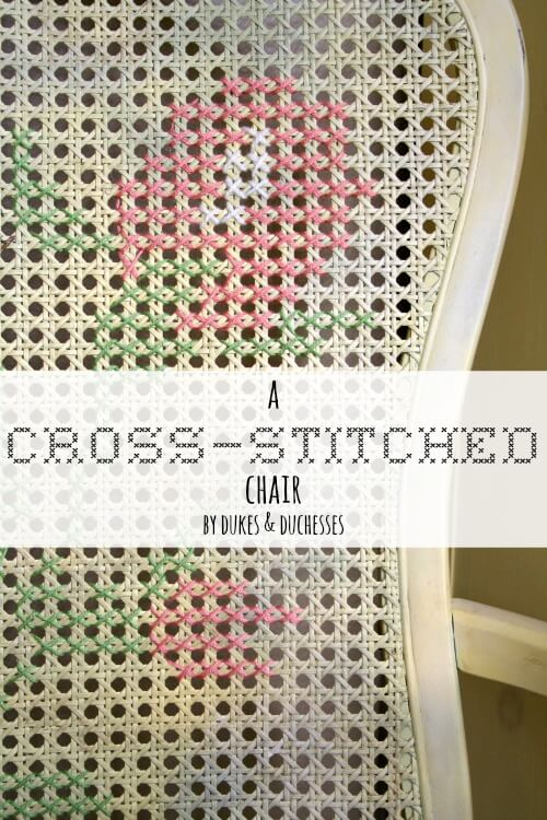 cross stitched chair