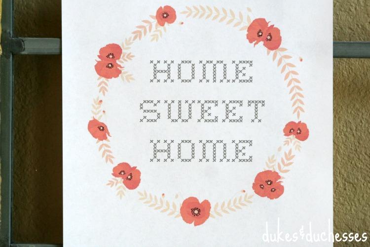 home sweet home sampler printable