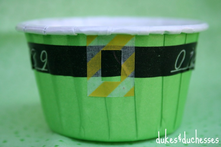 leprechaun treat cup with washi tape