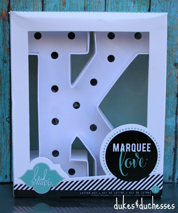 marquee letter from Heidi Swapp at Michaels