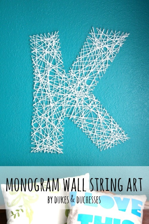 monogram wall string art