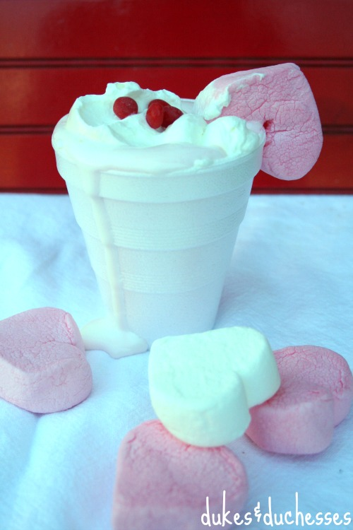 pink hot cocoa for valentine's day