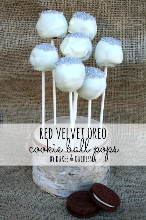 red velvet oreo cookie ball pops