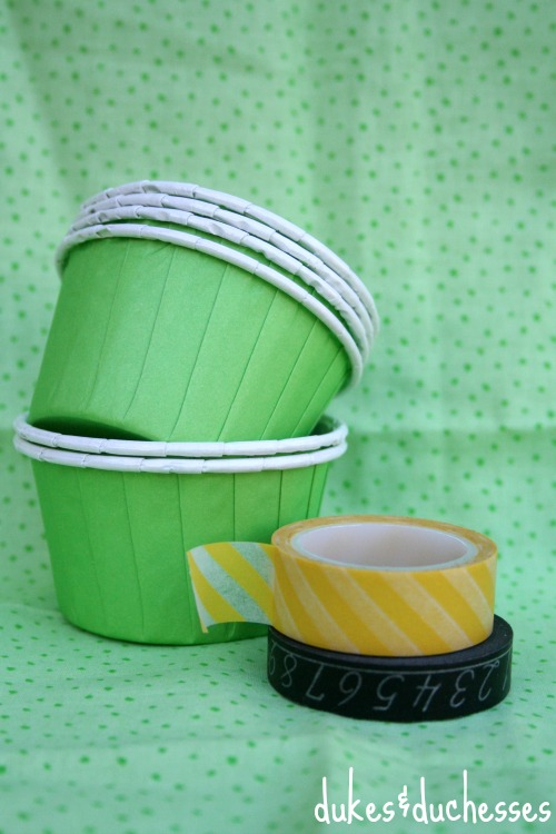 supplies for leprechaun treat cups