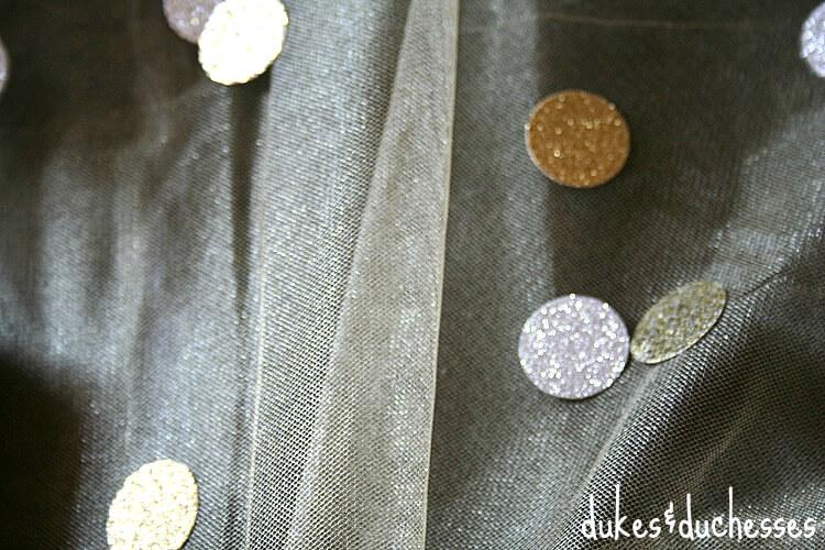 tulle and metallic confetti