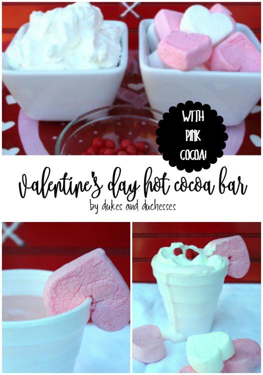 valentine's day hot cocoa bar