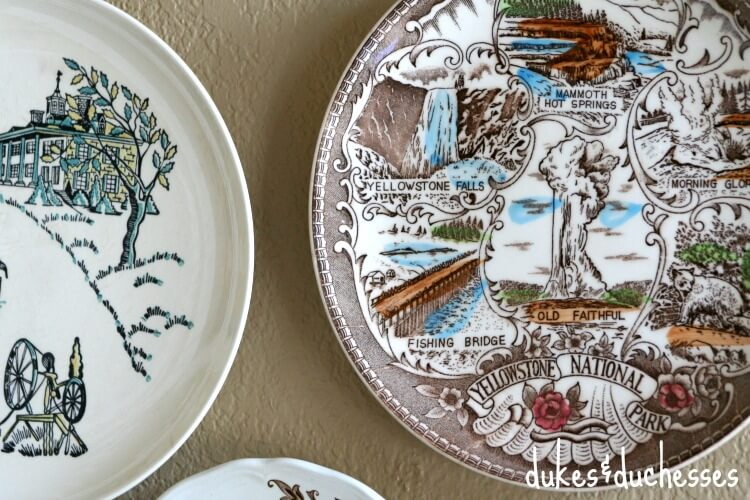 vintage plates for plate wall