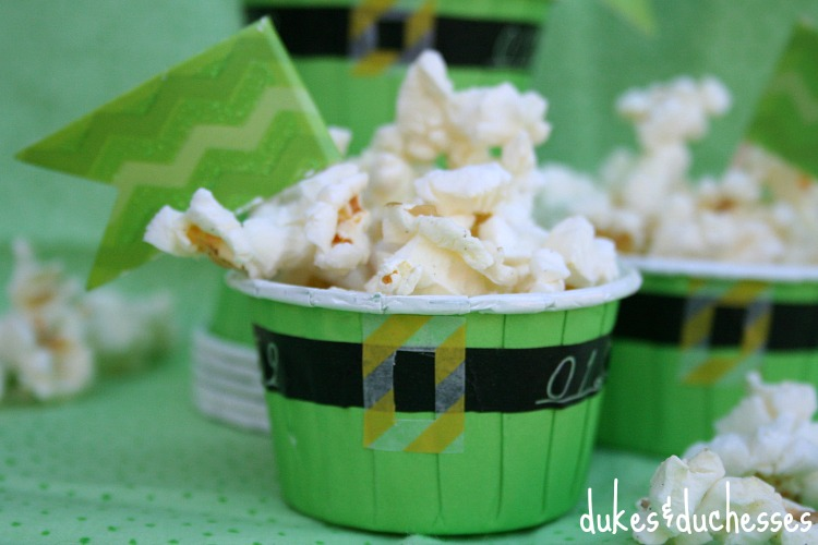 washi tape embellished leprechaun treat cups