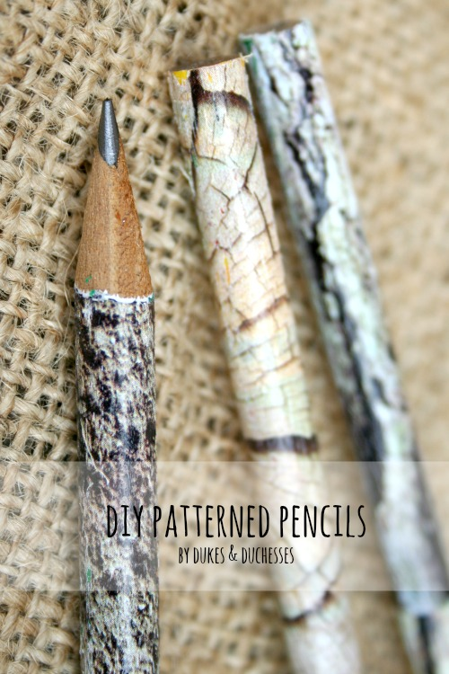 DIY patterned pencils