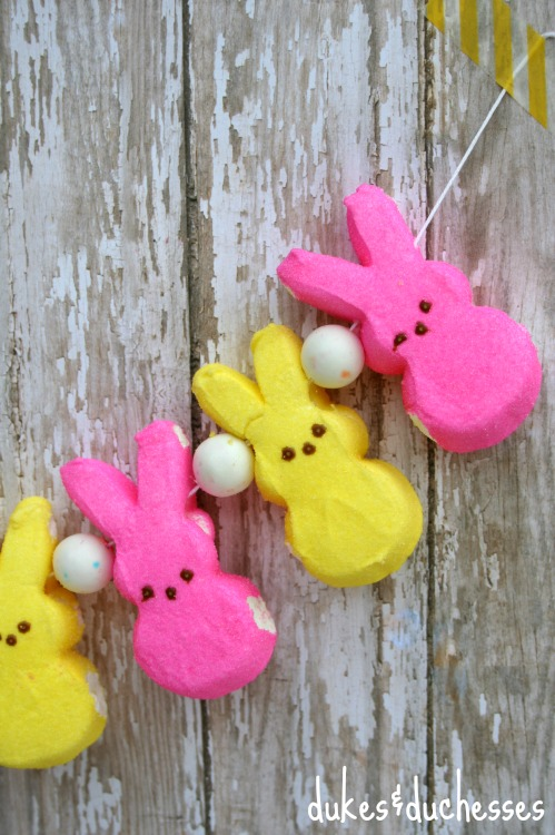 peeps and gumball garland