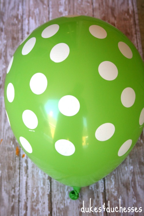 balloon filled with party favors