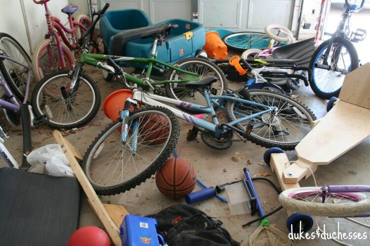 before photo of garage